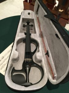 Opal V410 Electric violin Black metallic finish