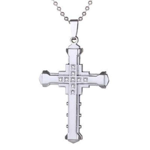 silver cross neklace