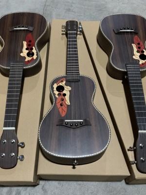 rosewood acoustic ukulele soprano concert tenor