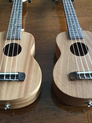 Plain Unfinished sapele ukulele