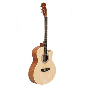 40 inch acoustic cutaway guitar blonde finish