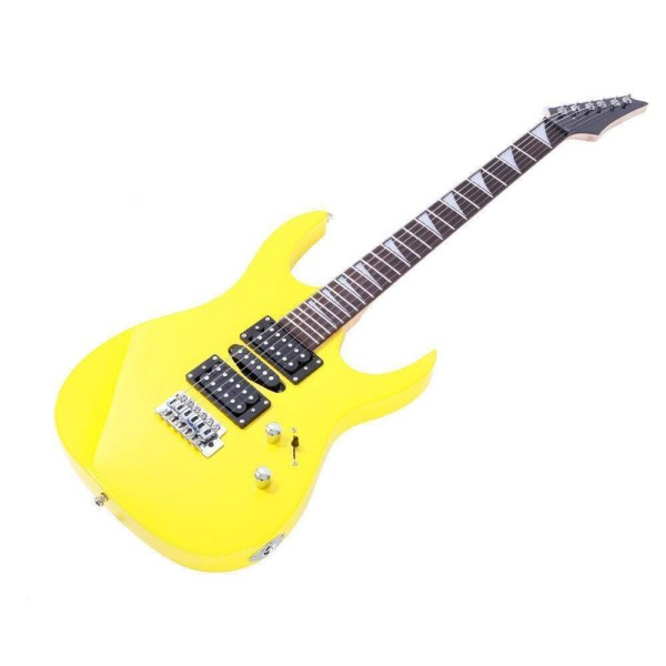 Yellow electric guitar - humbucker pickup