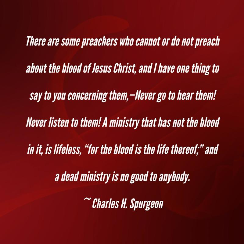 NOTHING BUT THE BLOOD OF JESUS CHARLES H SPURGEON
