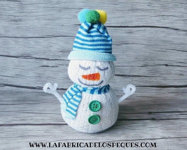 muñeco de nieve diy