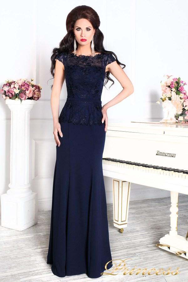 Купить вечернее платье 12084 синего цвета по цене 25500 ...