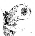<h5>Caterpillar</h5><p>Inktober 2014 - Dessin à l'encre</p>