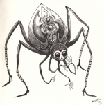 <h5>Spider</h5><p>Inktober 2015 - Dessin à l'encre</p>