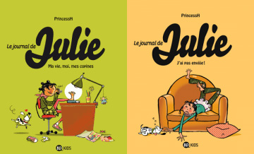 "Couvertures du ""Journal de Julie"" tomes 1 & 2, Auteur : PrincessH"