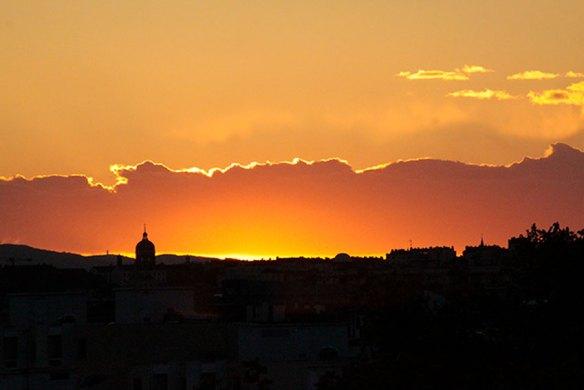 Coucher de soleil sur la Principauté de H