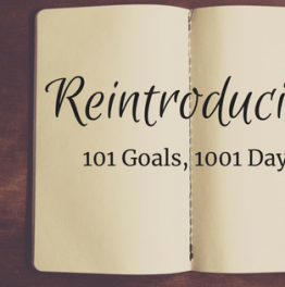 Reintroducing 101 Goals, 1001 Days
