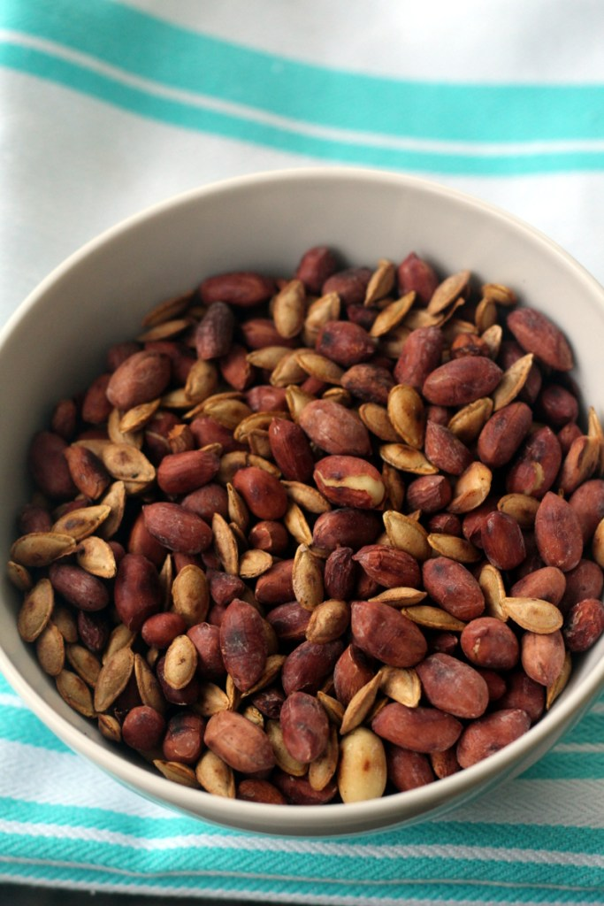 Roasted Butternut Squash Seeds and Peanuts