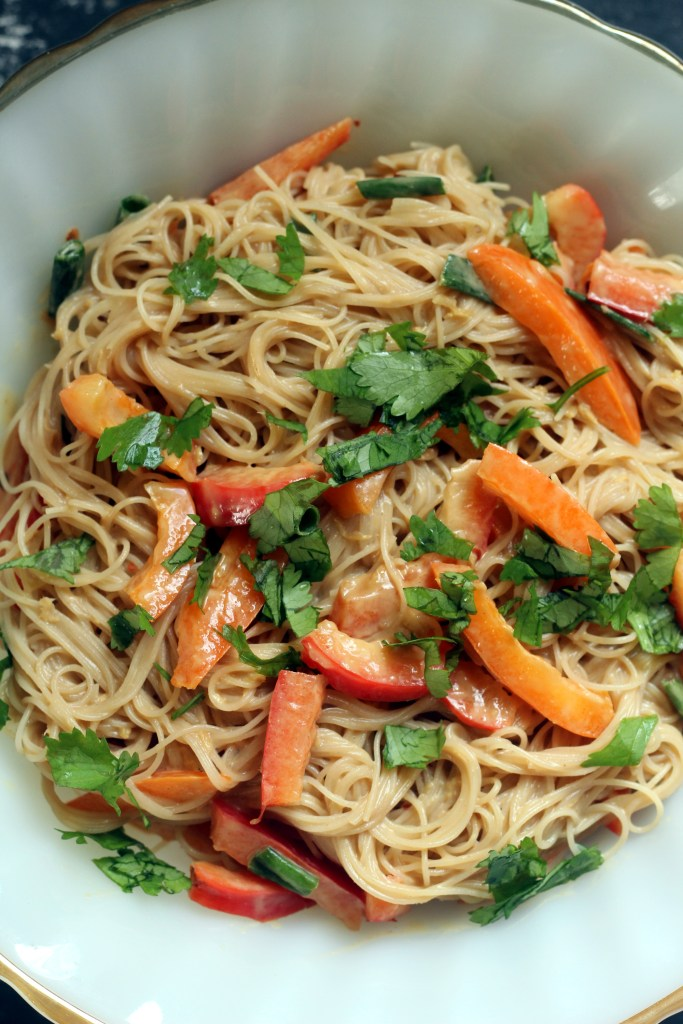 Peanut Butter Rice Noodle Salad