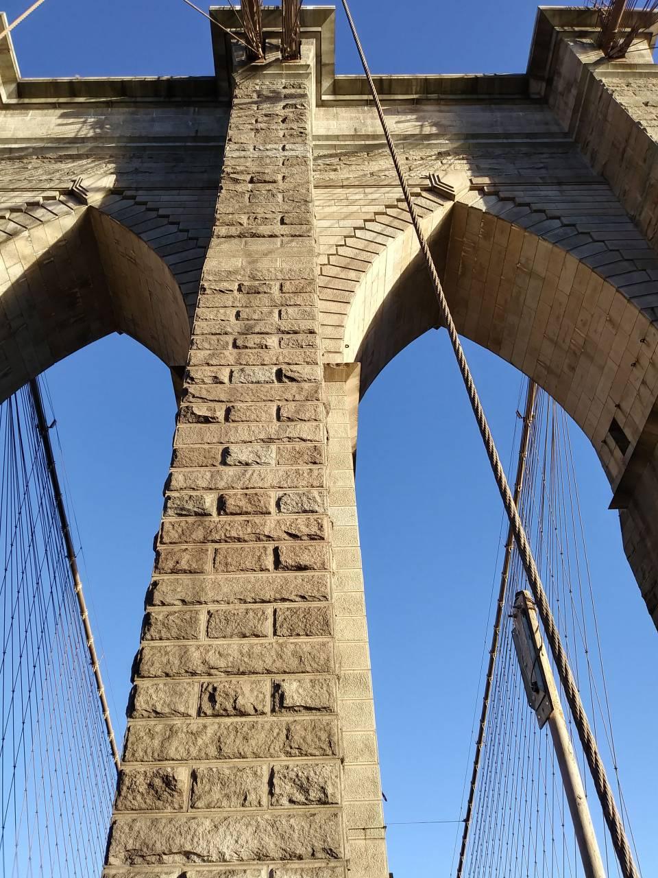 Arches on Brooklyn Bridge