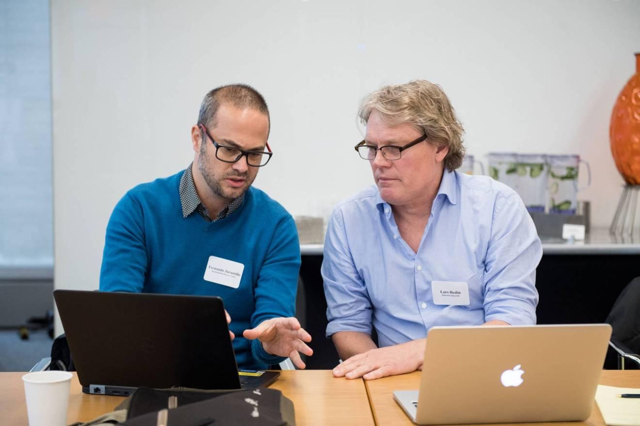 Fernando Jaramillo and Lars Hedin at Earth in 2050 workshop