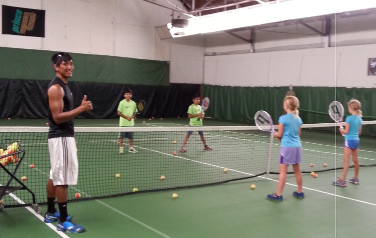 Junior clinic at Princeton Racquet Club
