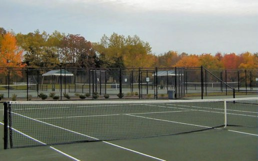 Outside Clay Courts at the Princeton Racquet Club