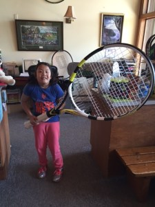 Molly and Babolat Racquet