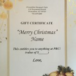 PRC Holiday Gift Certificate