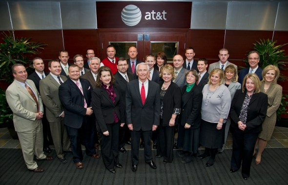 Graduates of the 2012 Leadership Institute for School Principals with Gov. Steve Beshear, Education Commissioner Terry Holliday and Kentucky Chamber President and CEO Dave Adkisson.