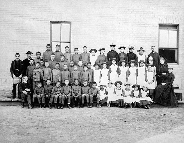 A school photo from a Canadian residential school.