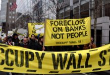 An image of an Occupy Wall Street protest.