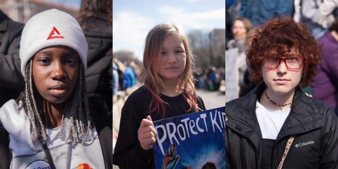 Collage of three people from the March