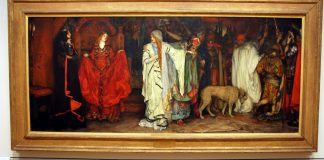 Photograph of Edwin Austin Abbey's painting of a scene from Shakespeare's King Lear