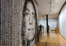 photograph of bead art piece