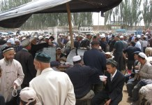 photograph of Uighur gathering