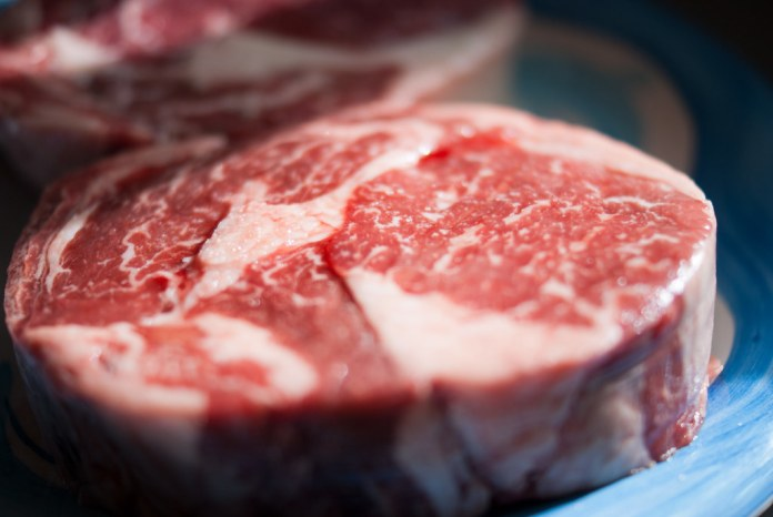close-up photograph of a raw cut of meat