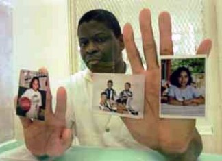 photograph of Rodney Reed from prison