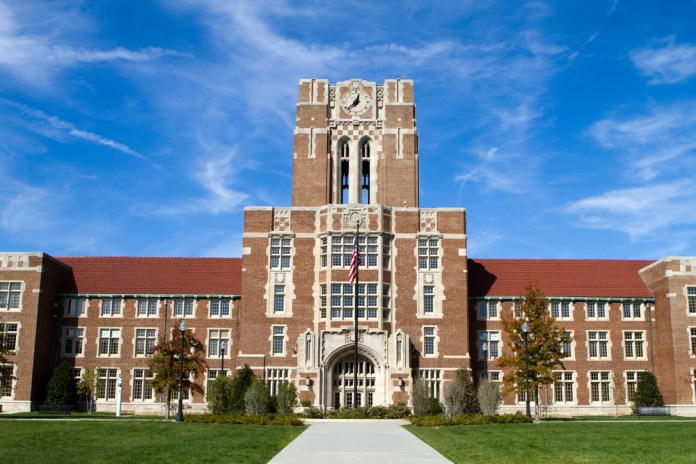 photograph of campus building at the University of Tennessee