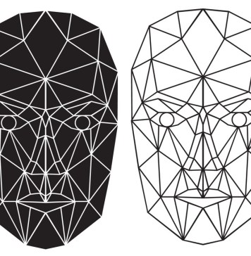 computer image of two identical face scans