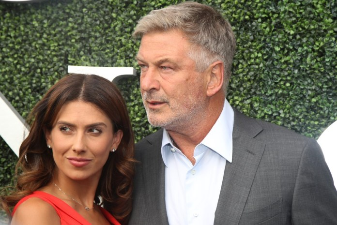 photograph of Alec and Hilaria Baldwin at event