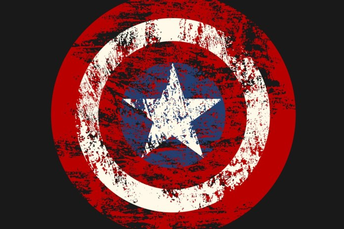 image of faded Captain America shield