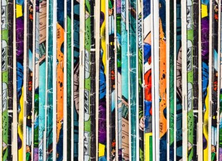 image of stacked comic books