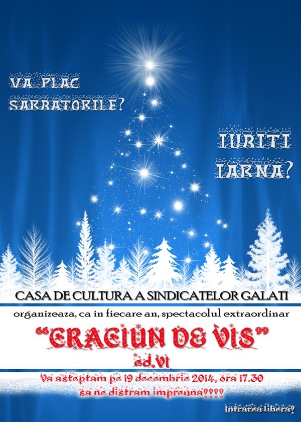 Afis CRACIUN DE VIS 2014