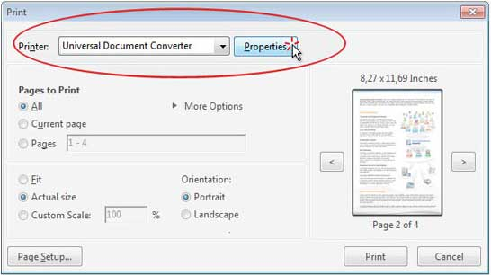 Convert PDF to JPG Universal Document Converter