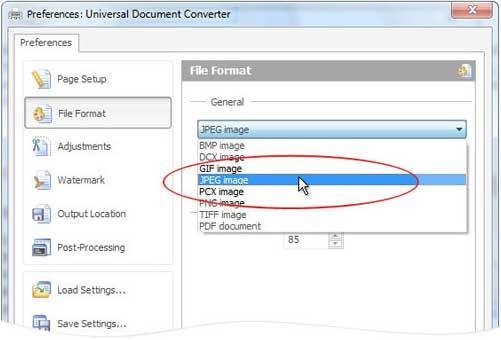 Convert PDF to JPG Universal Document Converter