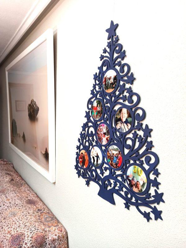 Árbol de Navidad con foto - Versión 8 fotos 60x80 cm