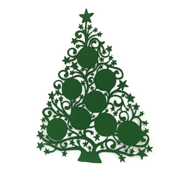 Árbol de Navidad con foto - Versión 8 fotos 60x80 cm (sin foto, color verde)