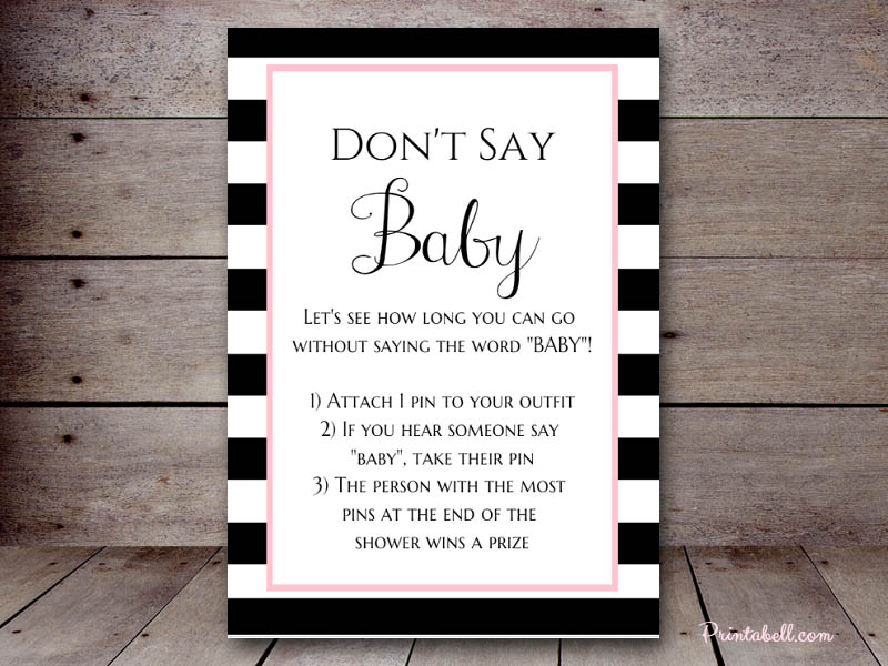 Dont Say Baby Printabell Create