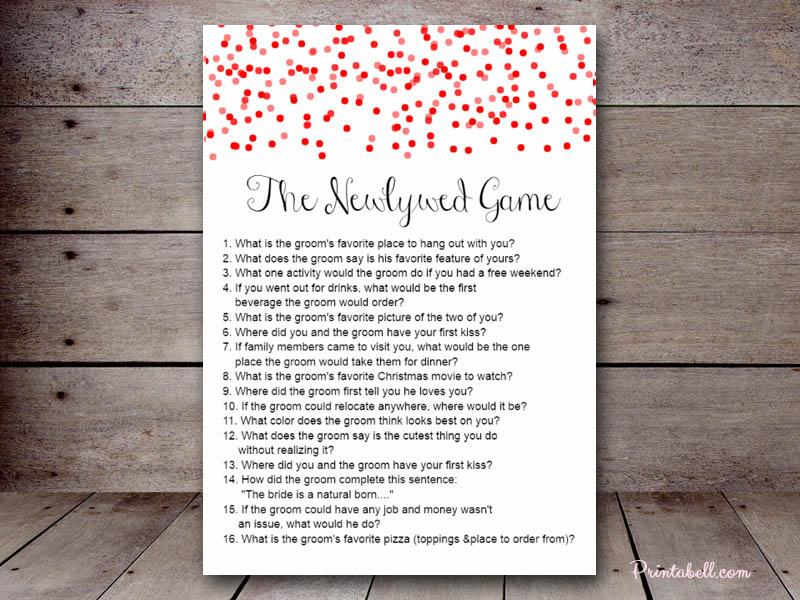 Bridal Shower 20 Questions