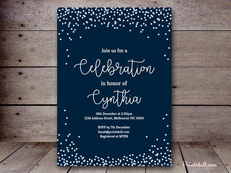 Bridal Shower Invitations Teal