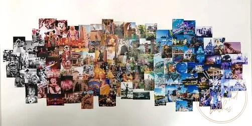 Walt Disney World photo wall collage finished