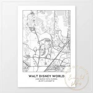 Disney World road map print