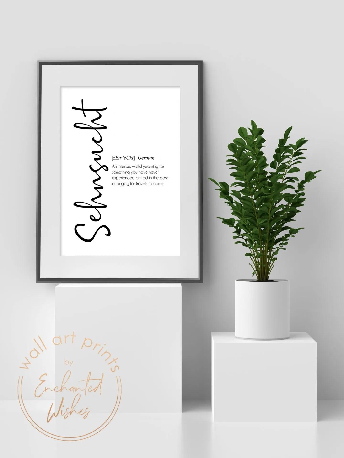 Sehnsucht definition print