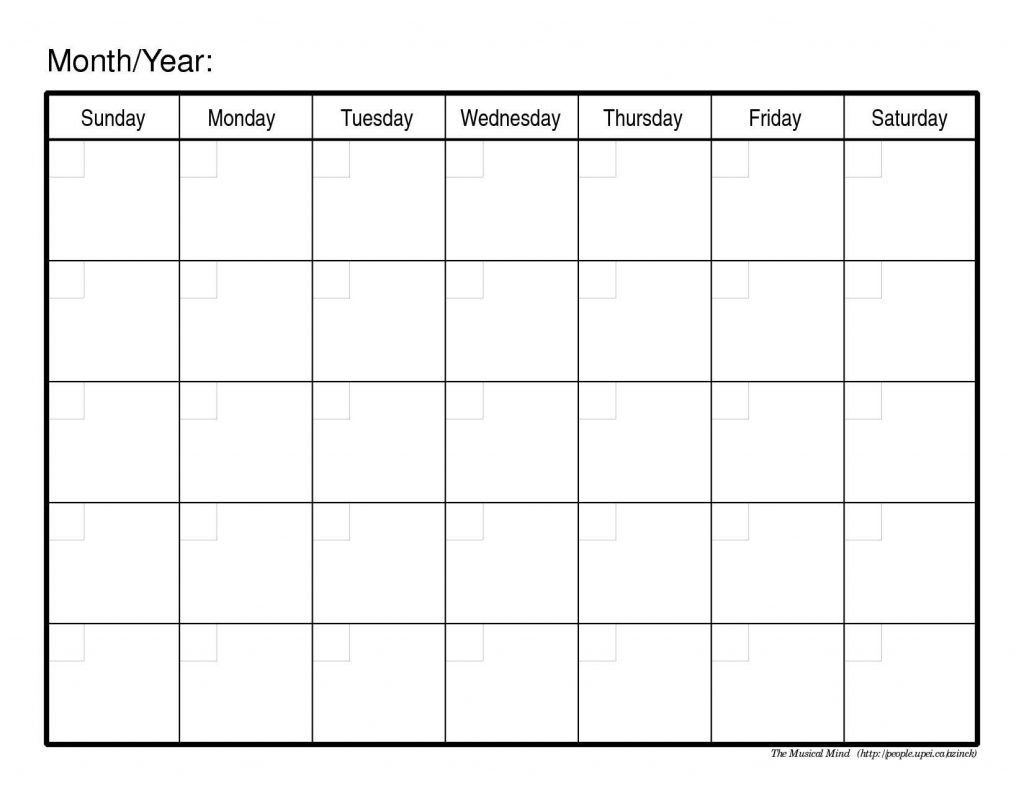 Inserting an intentionally blank page into a document is a useful way of separating chapters, sections or blocks of information. Blank Monthly Calendar Template - printable week calendar
