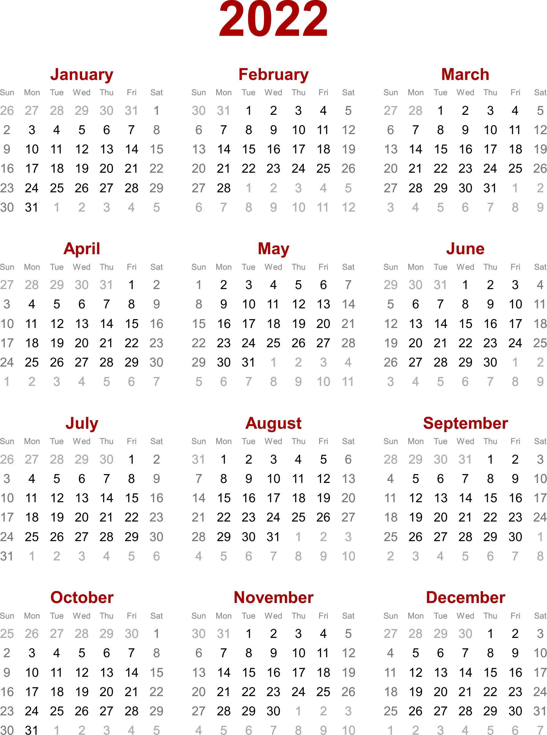 Our floral free printable monthly calendars have become our most popular printables. 2022 Calendar - printable year calendar