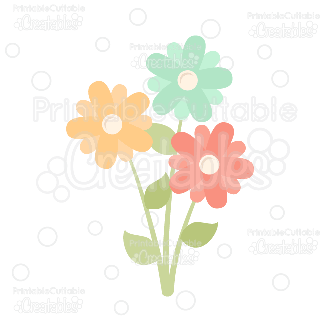Download Spring Flowers FREE SVG Cut File & Clipart Silhouette ...